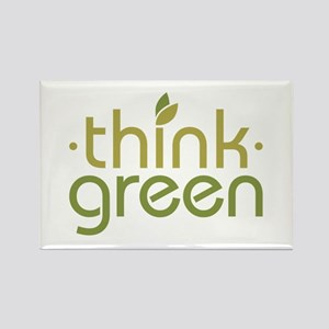 Think Green [text] Rectangle Magnet